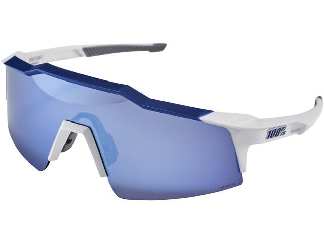 100% Speedcraft Lunettes Small, matte white/blue